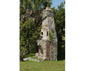 Old chimney at Captain Forsters Hammock Preserve